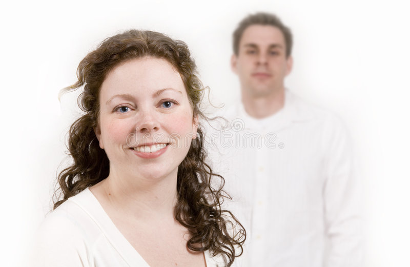 Young professional couple royalty free stock image
