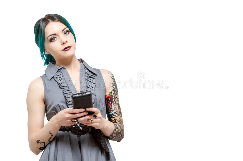 Young professional female with tattoos stock photos