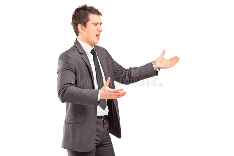 Download Young Professional Man In A Suit Arguing Stock Photo - Image: 29281482