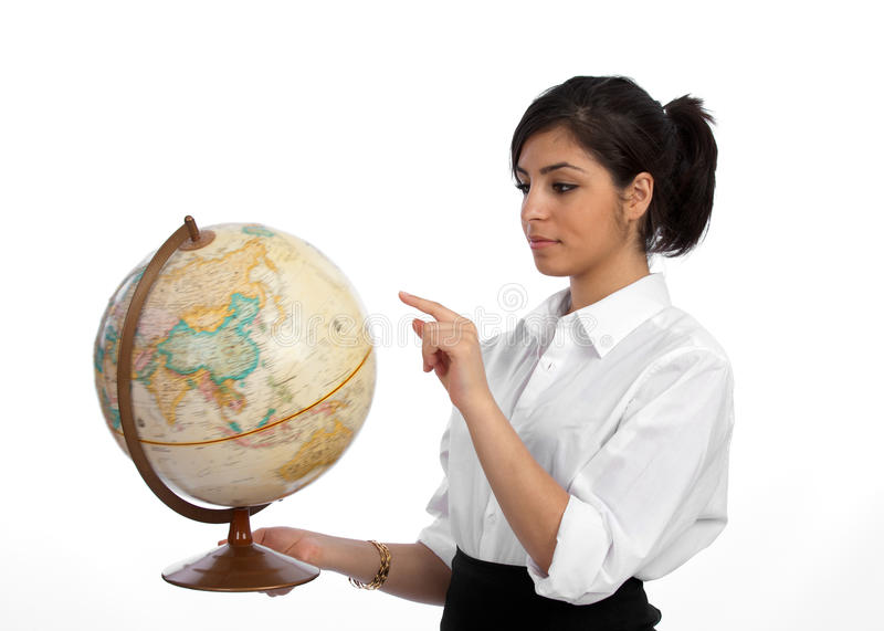 Young Professional Planning Travel Stock Images