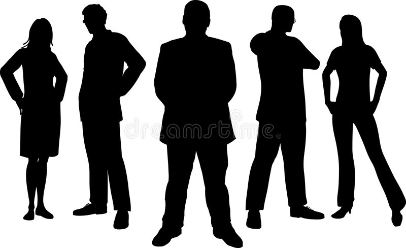 Young professionals vector illustration