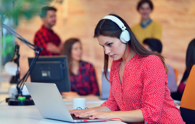 Young professionals work in modern office.Project manager team discussing. Young professionals work in modern office.Project manager team discussing idea. crew stock photos