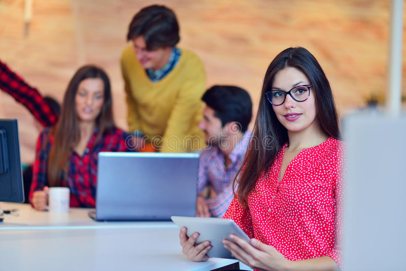 Young professionals work in modern office.Project manager team discussing. Young professionals work in modern office.Project manager team discussing idea. crew stock photo
