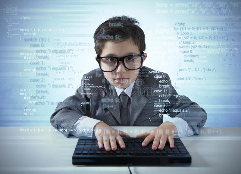 Young programmer royalty free stock photo