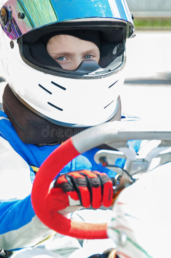 Download Young Racer stock photo. Image of equipment, carting - 25914246