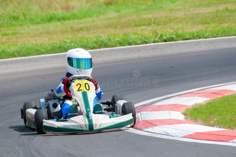 Young Racer Drive Royalty Free Stock Image