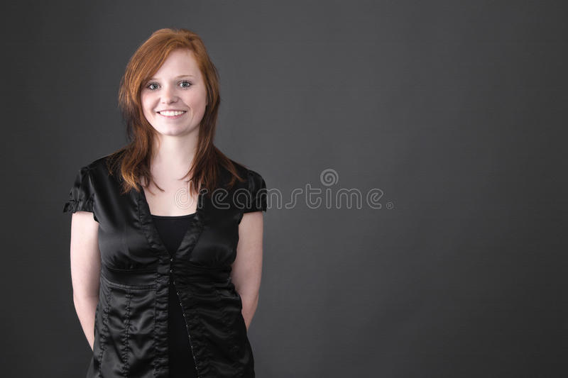 Young red-haired girl stock photography