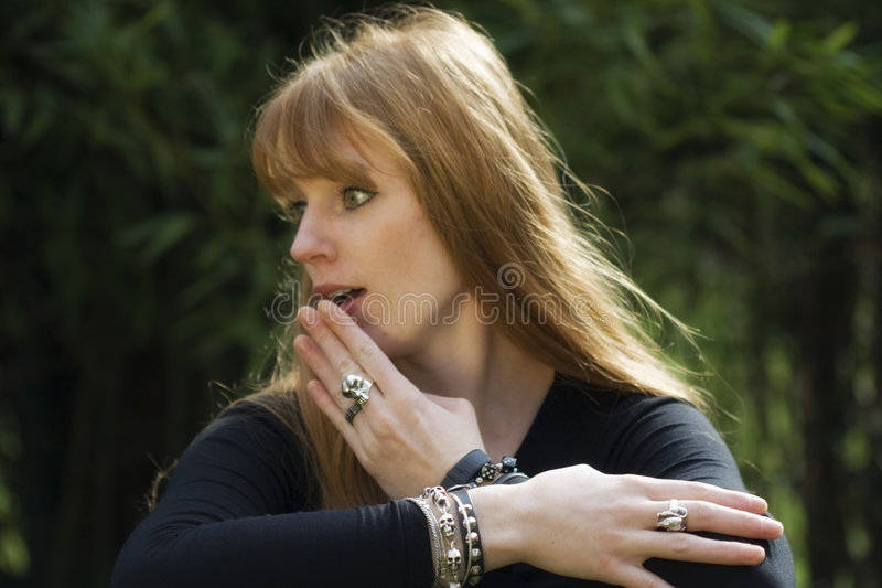 Download Young Red-haired Woman Stock Photography - Image: 6988302