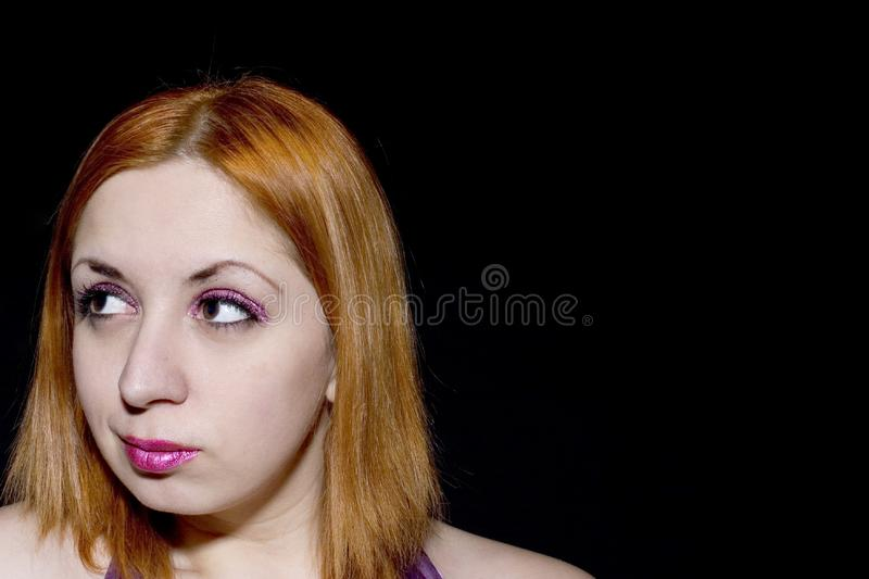 Download Young Red Head With Glitter Makeup Stock Photo - Image: 555006