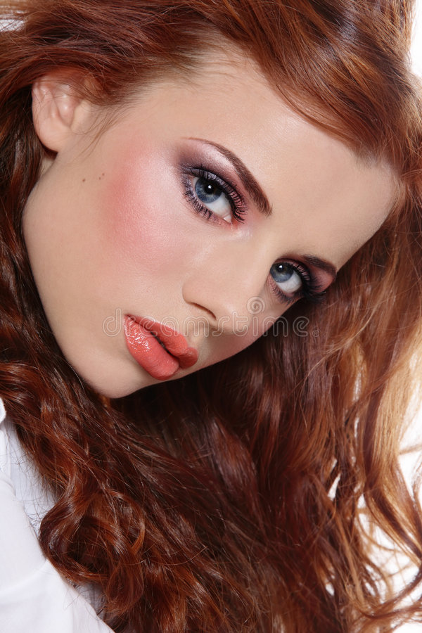 Young redhead royalty free stock photography