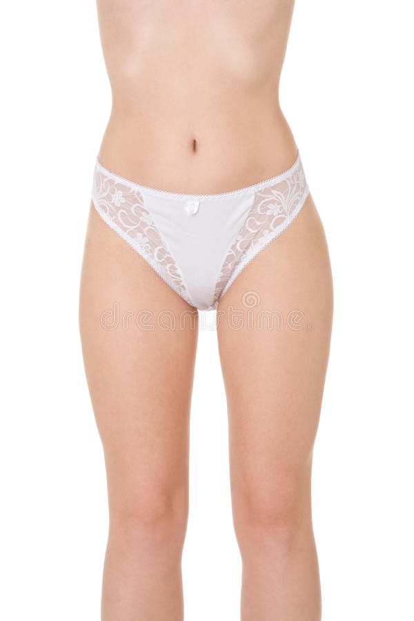 Young Redhead Caucasian Woman Modeling Lingerie Stock Image