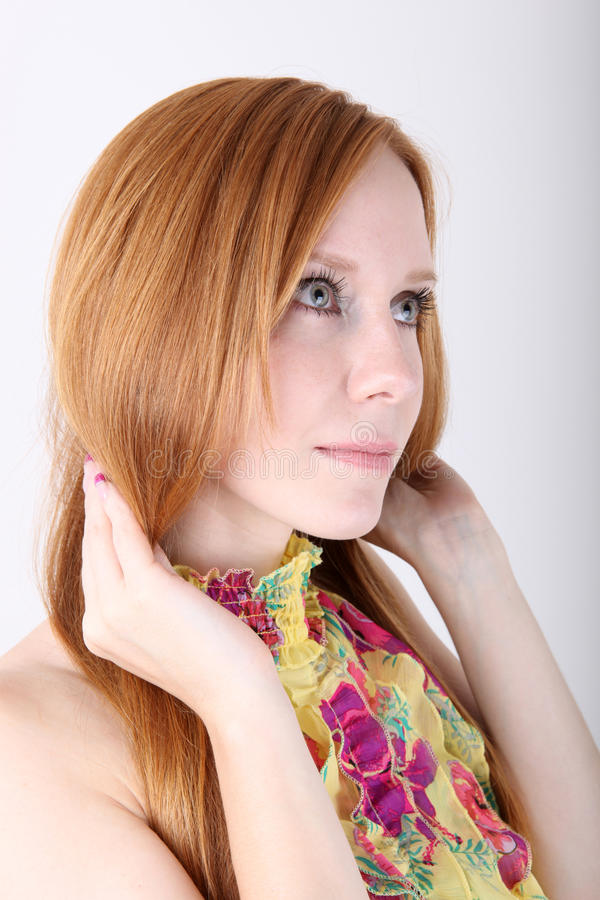 Download Young Redhead Girl Portrait Stock Image - Image: 16769449