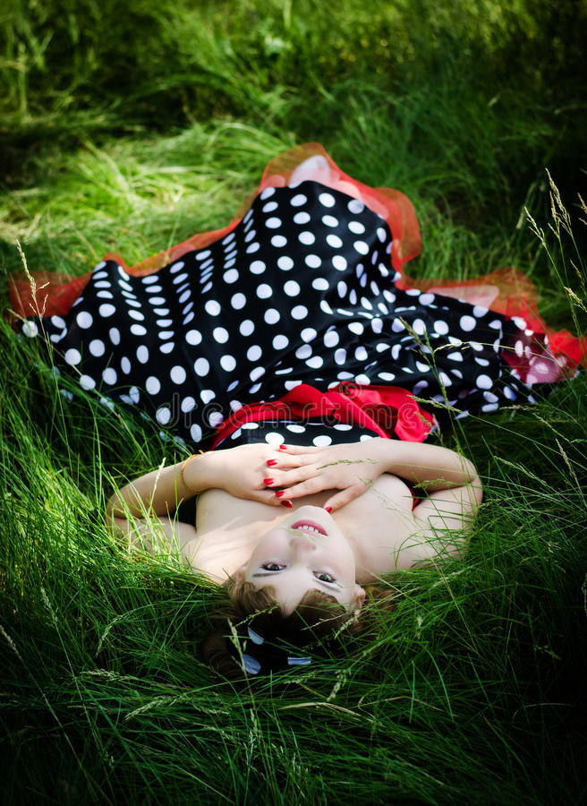 Young Retro-girl Royalty Free Stock Photography