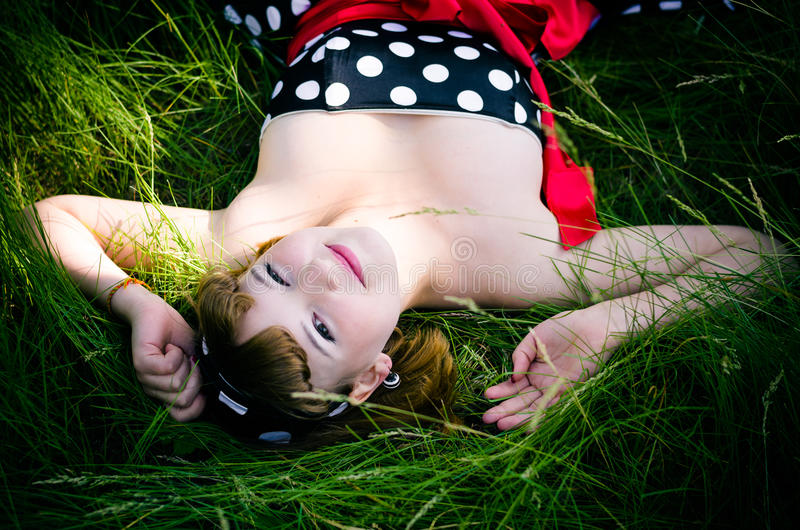 Download Young Retro-girl Royalty Free Stock Photo - Image: 25185595