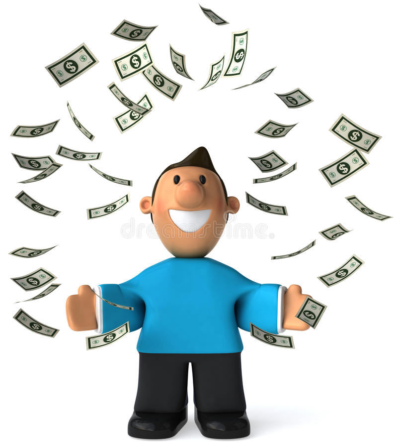 Download Young rich man stock illustration. Image of symbol, icon - 13898185