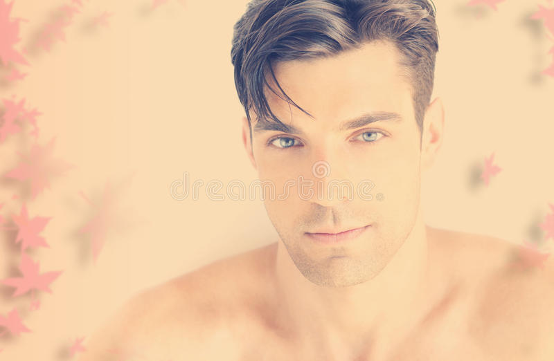 Young romantic man royalty free stock image