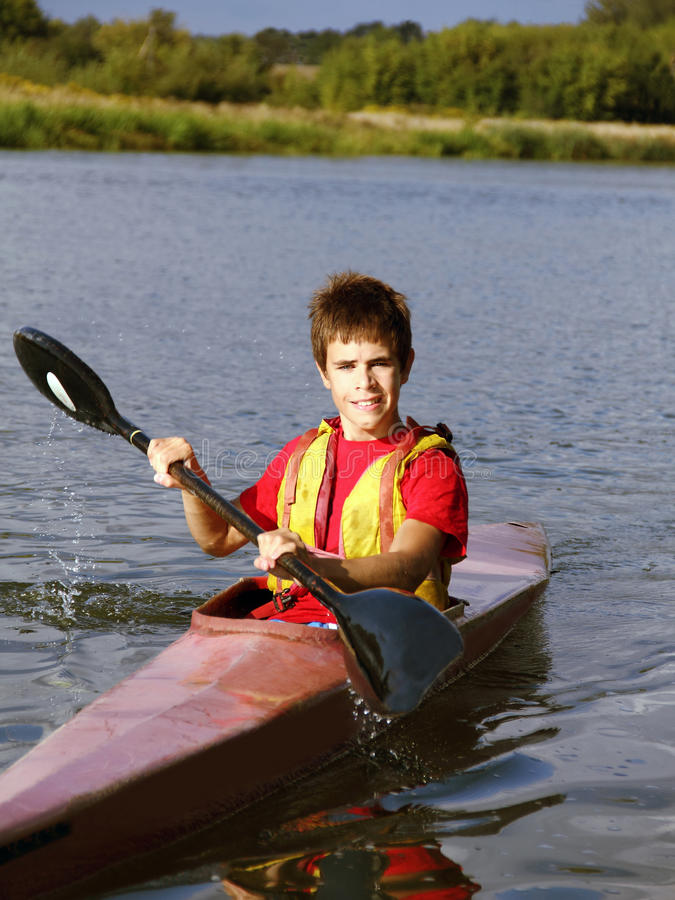 Young Rower Stock Photo