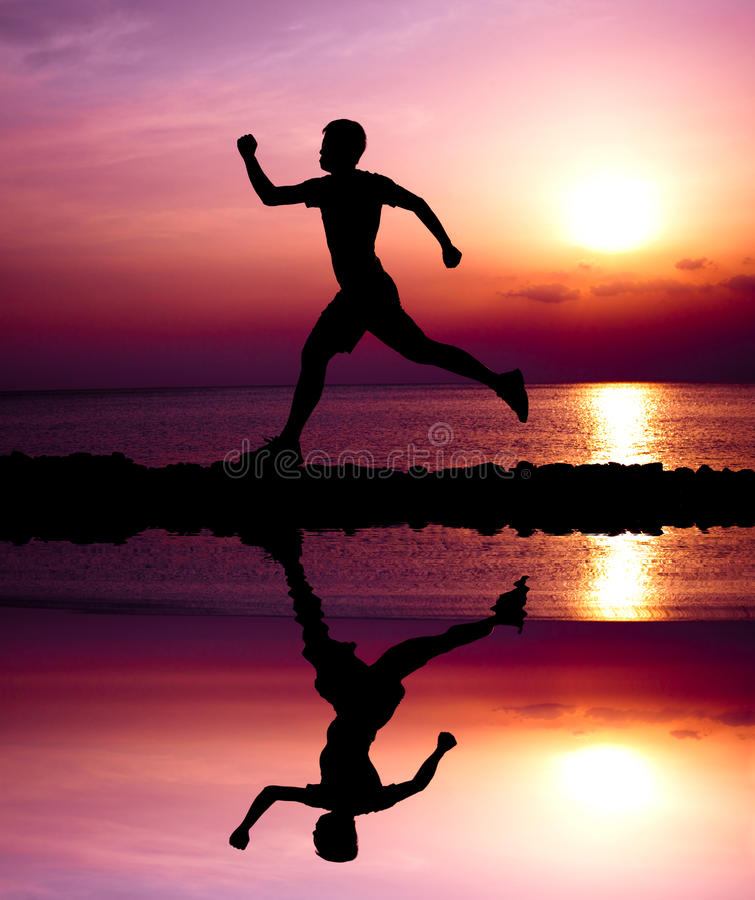 Download Young runner stock photo. Image of sunset, beach, healthy - 24162628