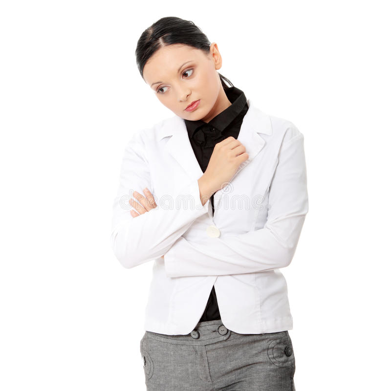 Download Young sad business woman stock image. Image of business - 15282119