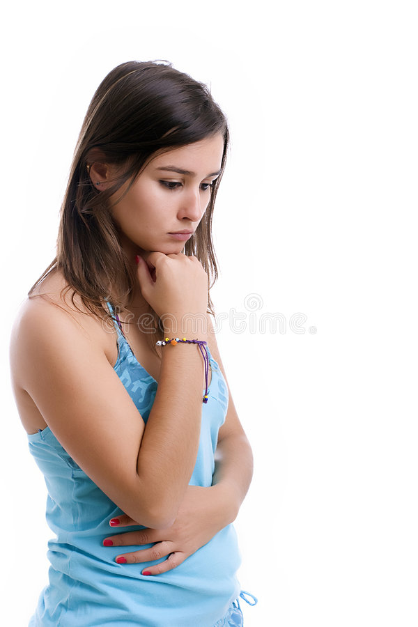 Young Sad Girl Portrait Royalty Free Stock Images