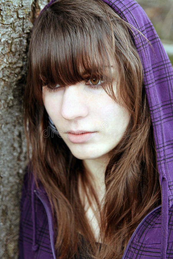 Download A Young Sad Girl Stock Photo - Image: 33340120