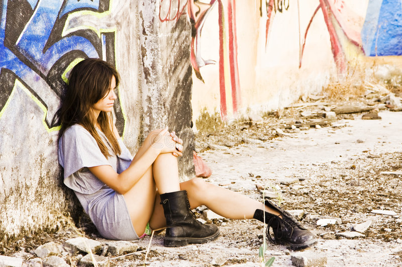 Young Sad Woman Stock Images