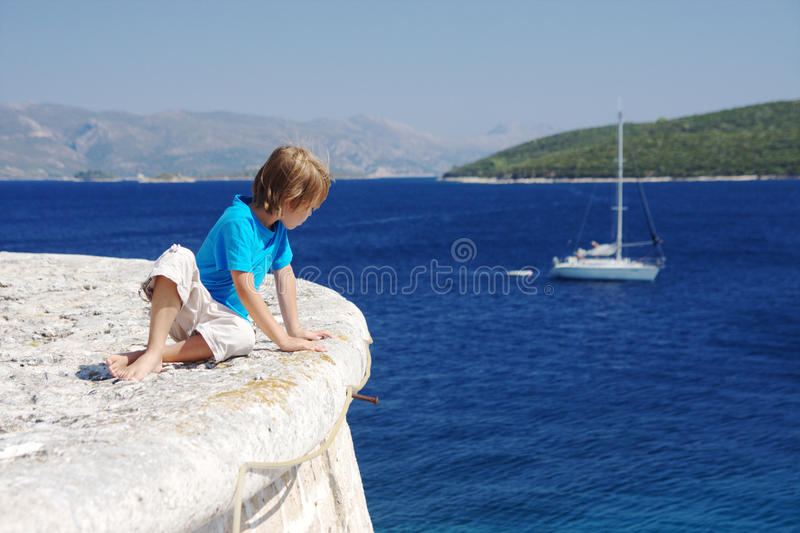 Young sailor royalty free stock image
