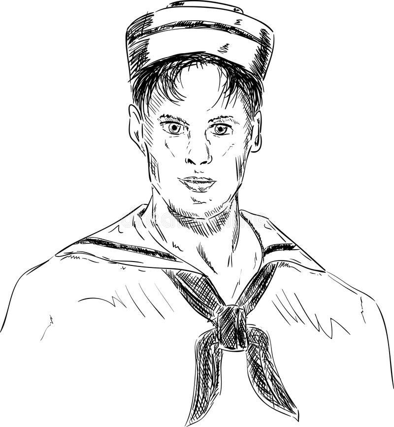 Young sailor stock illustration