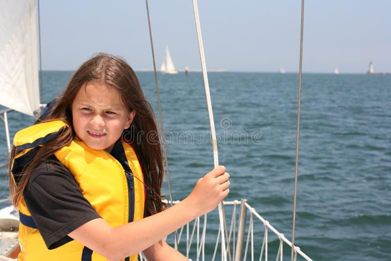 Young sailor stock photo