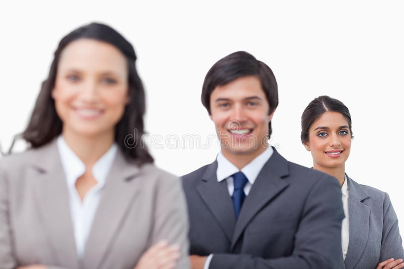 Download Young Salesteam Standing Together With Folded Arms Stock Photo - Image: 22862174