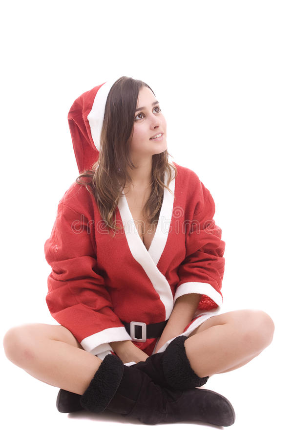 Download Young Santa Girl stock photo. Image of chic, hottie, boots - 11070808