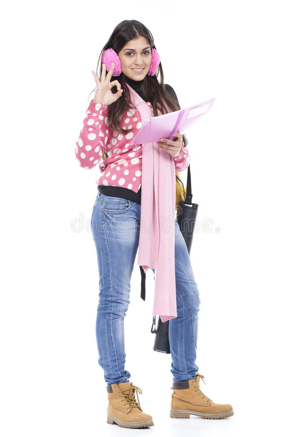 Download Young school girl stock photo. Image of beautiful, attractive - 17252110