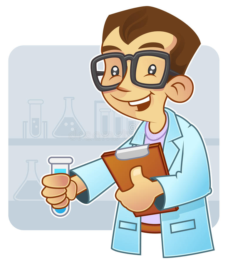 Download Young scientist stock illustration. Image of illustration - 12734787