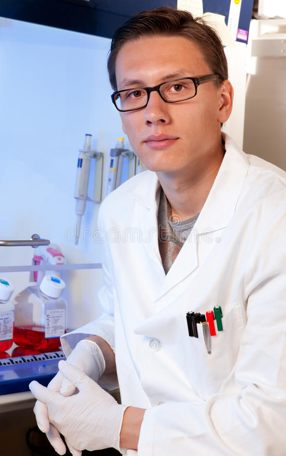Download Young Scientist In Cell Culture Room Stock Photo - Image: 26001670