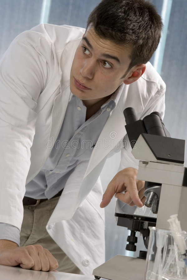 Download Young Scientist Consulting His Colleagues Stock Photo - Image: 6437336