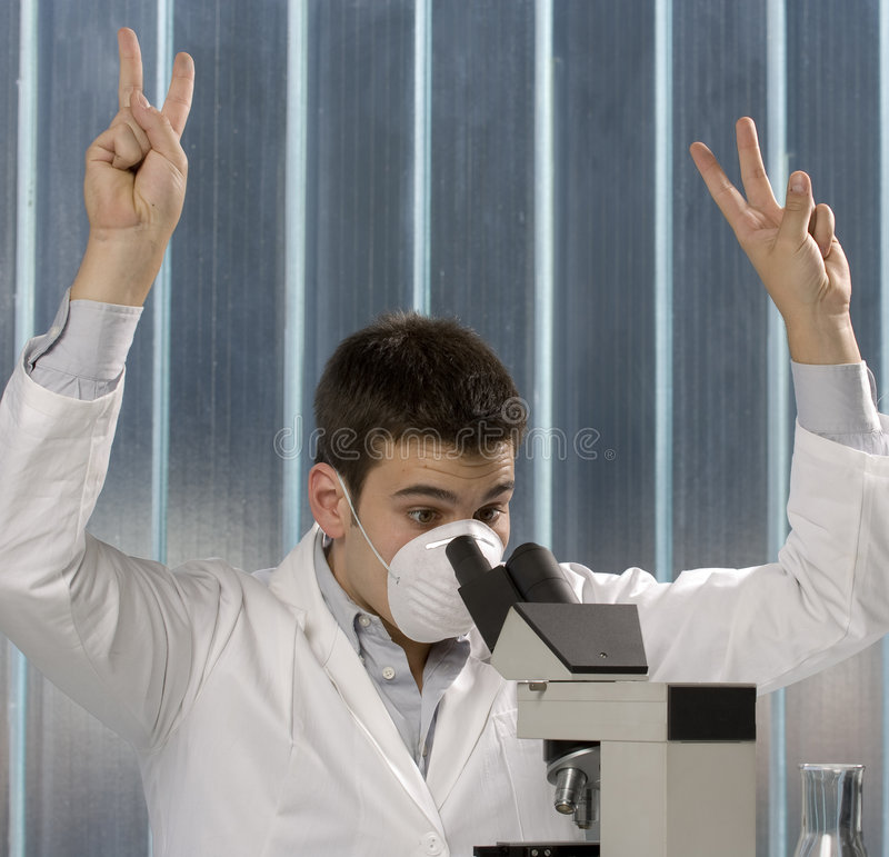 Download Young Scientist Discovering Something Stock Photo - Image of caucasian, life: 6436890