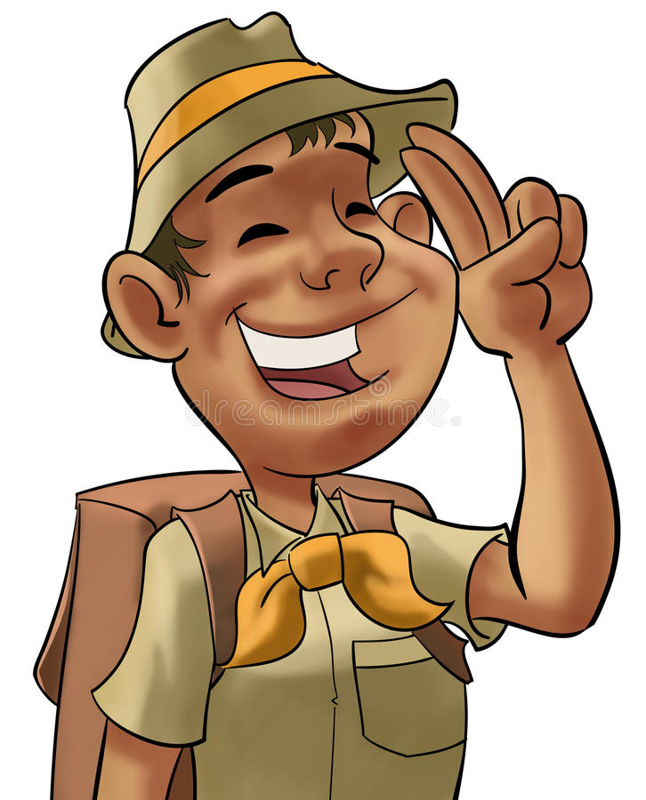 Young scout royalty free illustration