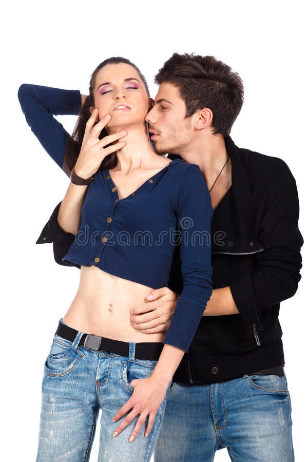 Download Young Sensual Couple Playing With Passion Stock Photo - Image: 23420262