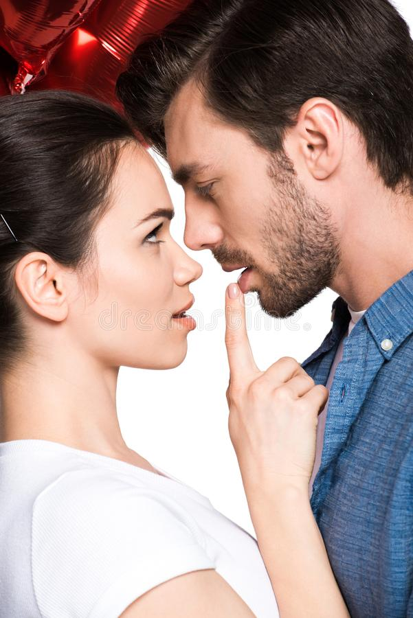 Young sensual couple stock photography