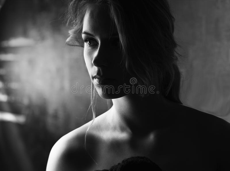Young sensual woman stock images