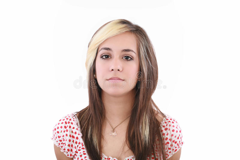 Young serious attractive woman royalty free stock image