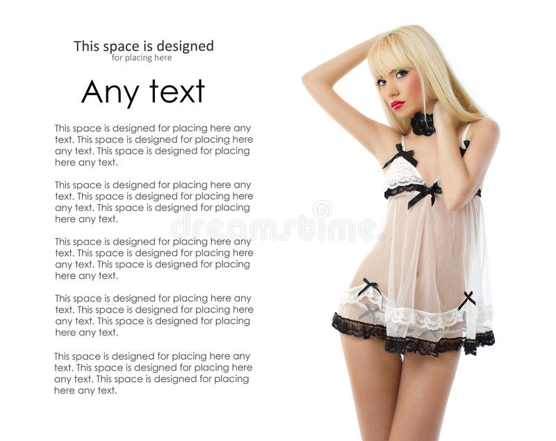 Download Young And Blond Woman In White Lingerie Royalty Free Stock Photo - Image: 25488525