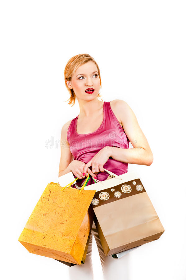 Download Young Casual Shopping Woman With Bags Royalty Free Stock Photo - Image: 11776265