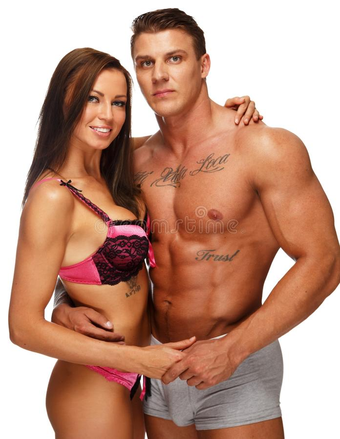 Download Young couple stock image. Image of panties, pants, adult - 36976853