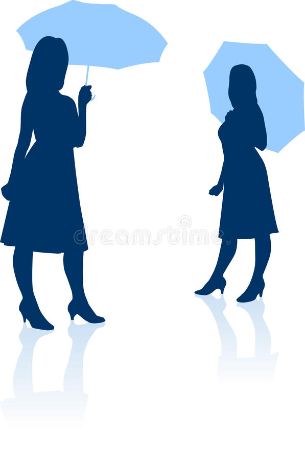 Young girl silhouette vector illustration