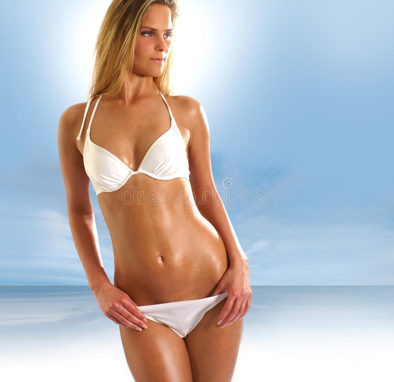 Download Young And Lady Wearing A Bikini Swimsuit Royalty Free Stock Image - Image: 13909246