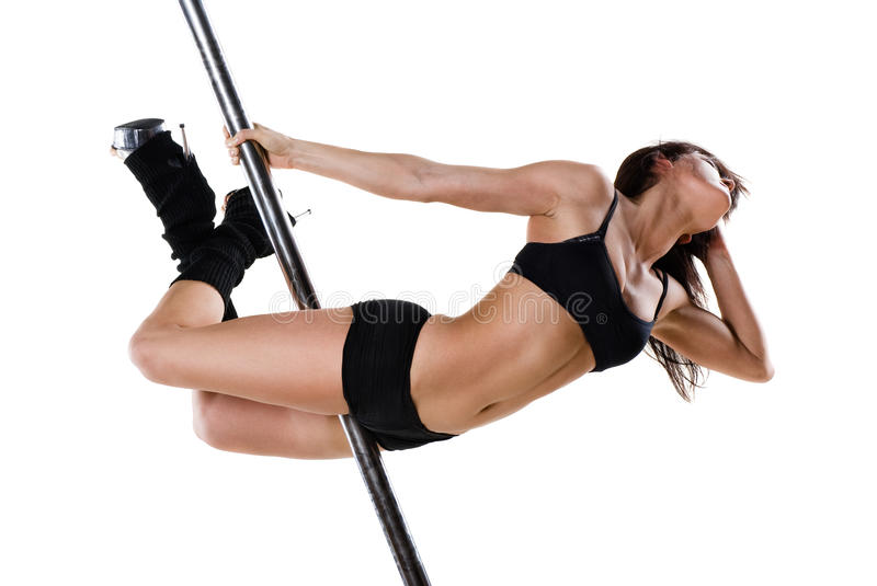 Download Young pole dance woman stock photo. Image of elegance - 19746698
