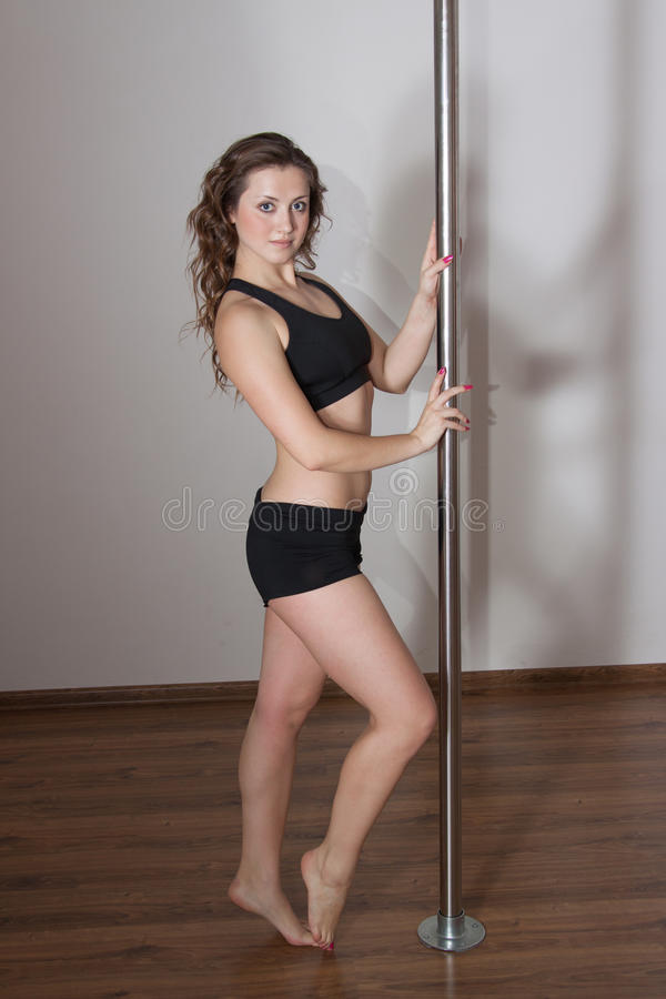 Download Young pole dance woman stock image. Image of muscular - 27875655