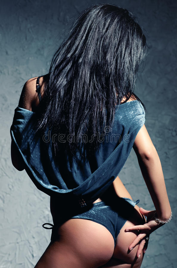 Download Young woman stock image. Image of model, femininity, backside - 13268233