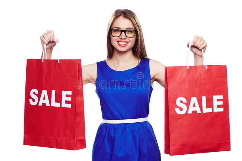 Young shopper royalty free stock image